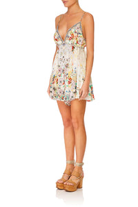 CAMILLA TIME AFTER TIME DRAWCORD WAIST PLAYSUIT