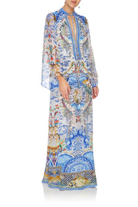 CAMILLA DRAWSTRING BUTTON UP DRESS GEISHA GATEWAYS