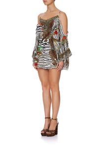 DROP SHOULDER PLAYSUIT COSMIC CONFLICT