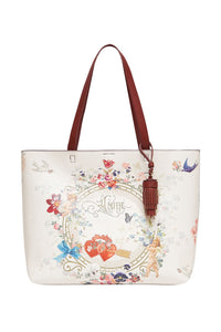 CAMILLA EAST WEST TOTE JARDIN POSTCARDS