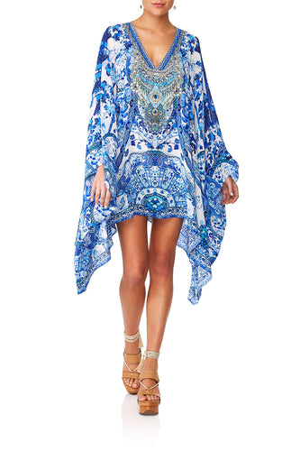 CAMILLA ETERNITYS EMPIRE FRONT SPLIT SHORT KAFTAN