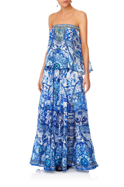 CAMILLA ETERNITYS EMPIRE SHEER TIERED MAXI SKIRT