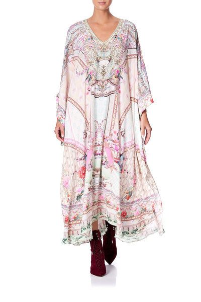KAFTAN WITH SHEER SLEEVE CAROUSEL MADEMOISELLE