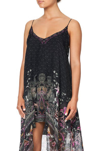 FLARED MINI WITH SHEER OVERLAY RESTLESS NIGHTS