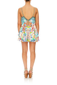 CAMILLA DRAGON DIVINITY FLARED PLAYSUIT W/ OVERLAYER