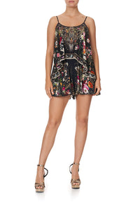 FLARED PLAYSUIT WITH OVERLAYER MIRROR MIRROR
