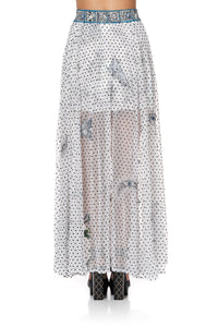 FULL SKIRT WITH GATHERED FRONT PANEL MOONLIT MUSINGS