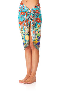 CAMILLA GALAXY GIRL SHORT TASSEL SARONG