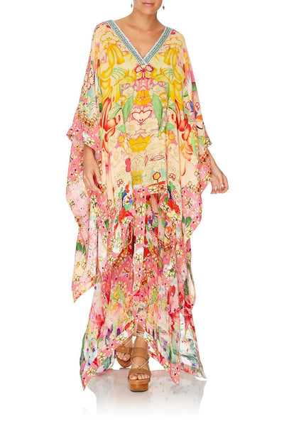 HIGH LOW HEM V-NECK KAFTAN KIMONO KISSES