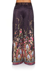 CAMILLA HIGH WAISTED TROUSER WITH GODET WILD FLOWER