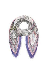 RAW EDGE SCARF MEET ME IN MONTMARTRE