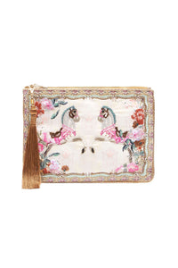 ZIP TOP CLUTCH CAROUSEL MADEMOISELLE