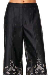 CAMILLA JACQUARD PANT WITH FRONT SEAMS REBELLE REBELLE