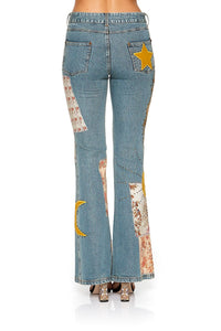 MID RISE FLARED JEANS JEANNE QUEEN