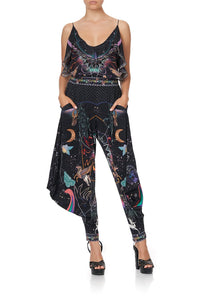 JERSEY DRAPE PANT WITH POCKET MIDNIGHT MOON HOUSE