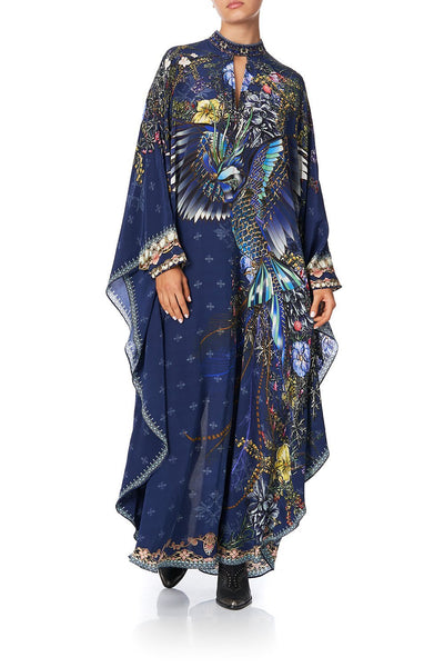 KAFTAN WITH HIGH COLLAR STAND SOUTHERN TWILIGHT