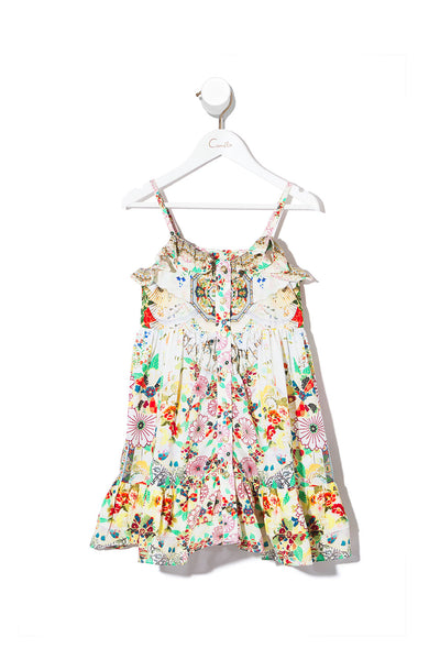 KIDS' BUTTON THROUGH FRILL DRESS TIME AFTER TIME