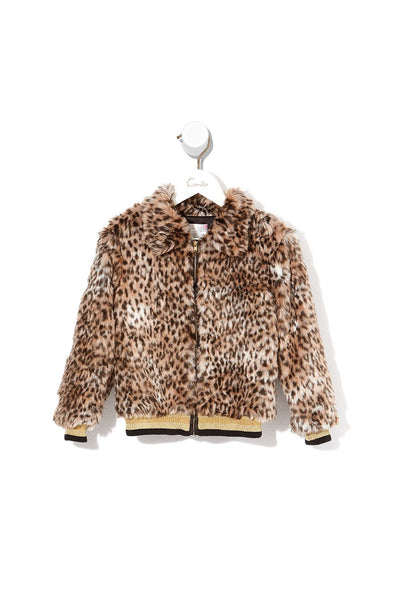 CAMILLA KIDS FAUX FUR JACKET CHAMPAGNE COAST