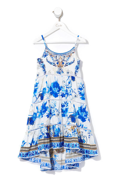 CAMILLA KIDS HIGH LOW HEM DRESS WITH TRIM SAINT GERMAINE