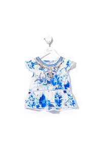 CAMILLA KIDS TOP WITH TRIM SAINT GERMAINE