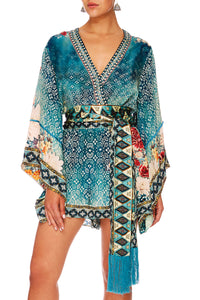 CAMILLA HER HEIRLOOM KIMONO SLEEVE PLAYSUIT W OBI BELT