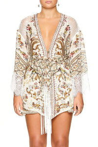 CAMILLA KIMONO WITH EMBROIDERY INSERT OLYMPE ODE