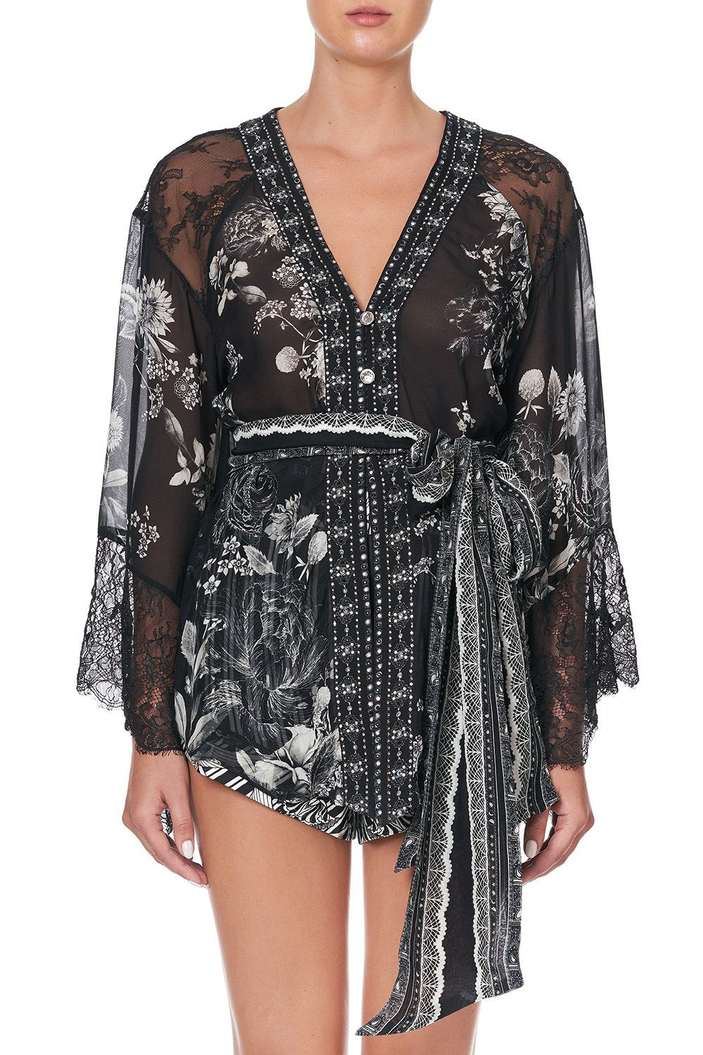 KIMONO WITH SHOULDER INSERTS MOONSHINE BLOOM