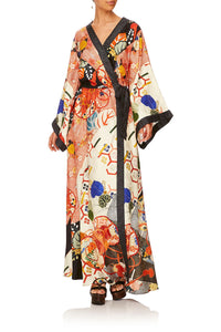 CAMILLA KISSING THE SUN KIMONO WRAP DRESS