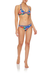 CAMILLA KNOT FRONT HALTER TOP PLAYING KOI