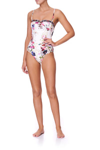 LACE UP FRONT BANDEAU ONE PIECE FAIRY GODMOTHER