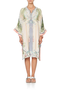 LACE UP FRONT KAFTAN BEACH SHACK