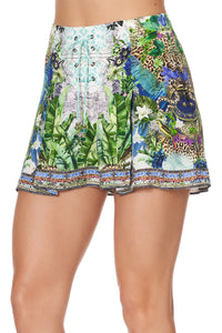 LACE UP FRONT SHORTS MOON GARDEN