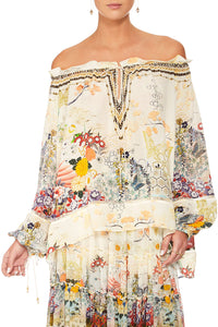 CAMILLA LADY LABYRINTH OFF THE SHOULDER BLOUSE