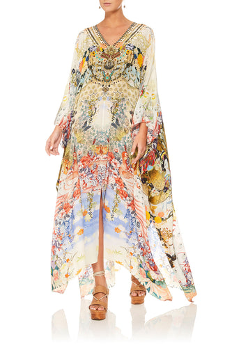 CAMILLA LADY LABYRINTH SPLIT FRONT & SLEEVE KAFTAN