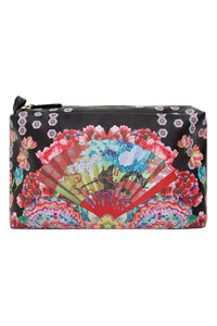 LARGE MAKE UP BAG PAINTED LAND