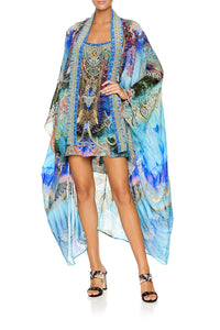 CAMILLA LAYER WITH KIMONO COLLAR FREEDOM FLIGHT