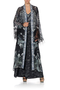 LAYERING ROBE WITH CONTRAST SLEEVE ASTRO DISCO