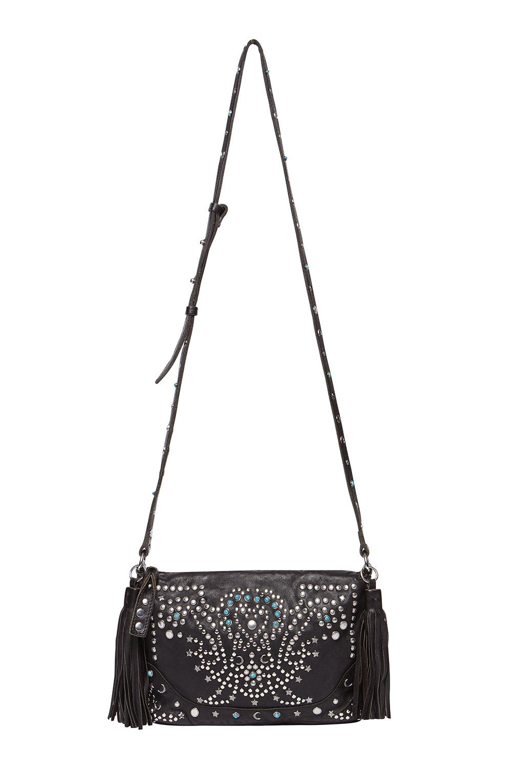 BOHEMIAN LEATHER BAG BLACK