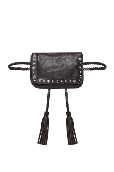 CAMILLA LEATHER WAIST BAG BLACK