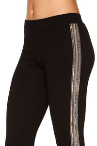 PONTE LEGGINGS WITH SIDE DETAIL FRIEND IN FLORA