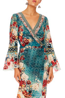 CAMILLA HER HEIRLOOM LONG SLEEVE WRAP DRESS