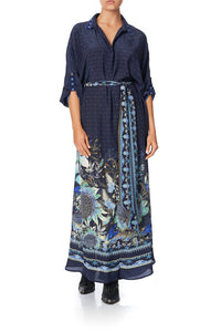 LONG COLLARED KAFTAN NATURES NECTAR