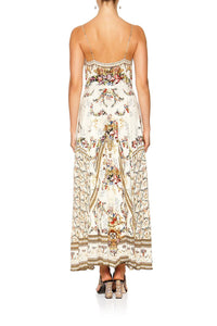 LONG DRESS WITH TIE FRONT OLYMPE ODE