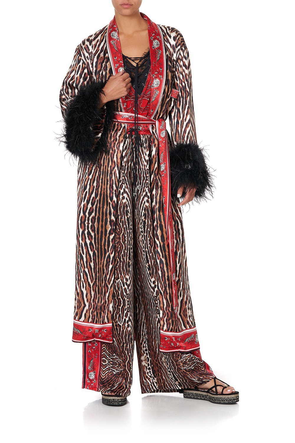 LONG ROBE WITH FLARED SLEEVE PIRATE PUNK