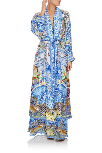 CAMILLA LONG ROBE WITH TIE GEISHA GATEWAYS