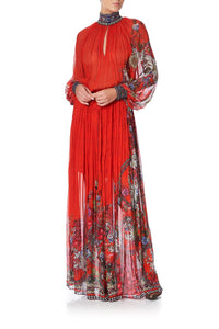 LONG SLEEVE DRESS WITH COLLAR WONDERING WARATAH