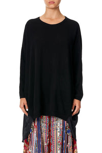 CAMILLA LONG SLEEVE JUMPER WITH PRINT BACK COSTUME PARTY