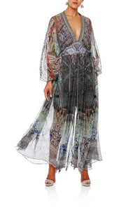MAMAS HOME LONG KAFTAN W WAISTBAND