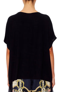 LOOSE FIT ROUND NECK TEE MIDNIGHT MEETING