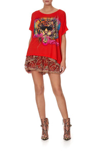 LOOSE FIT ROUND NECK TEE SLAVE TO THE RHYTHM